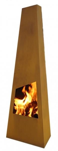 Outdoor/Garten Kamin Feuersäule Chingo in Corten