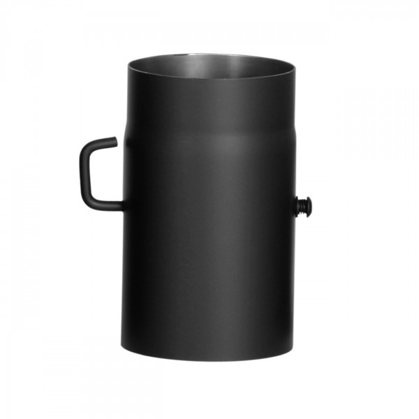 Verlängerungsrohr Länge 250 mm mit eingebauter Drosselklappe 130 mm Ø