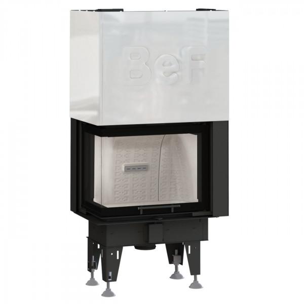 Feel V8CL Eck-Kamineinsatz 8kW für Niedrigenergiehäuser