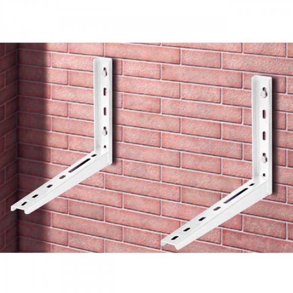 Wandhalterung verzinkt Weiß bis 160kg für Wärmepumpen und Klimaanlagen