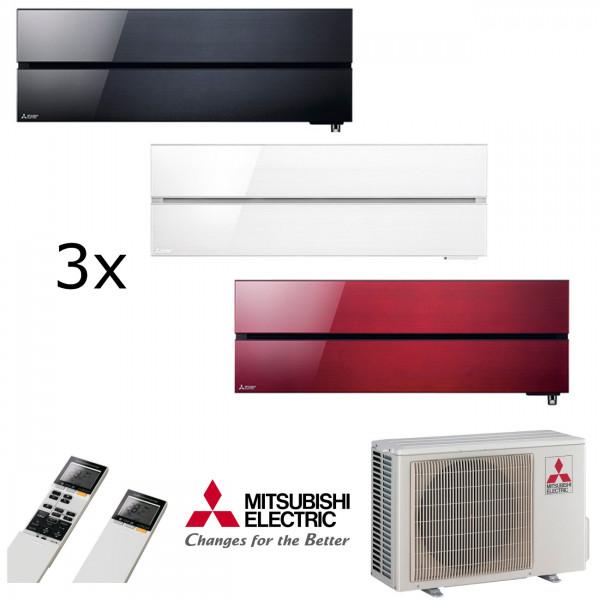 MultiSplit Klimaanlage Diamond 1+1+2 KW Kühlen