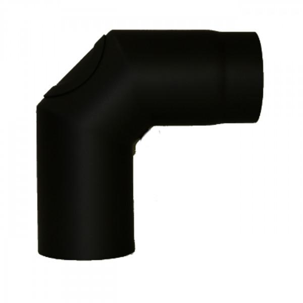 Bogen 90° mit Reinigungsverschluß zweimal abgewinkelt - 160 mm Ø