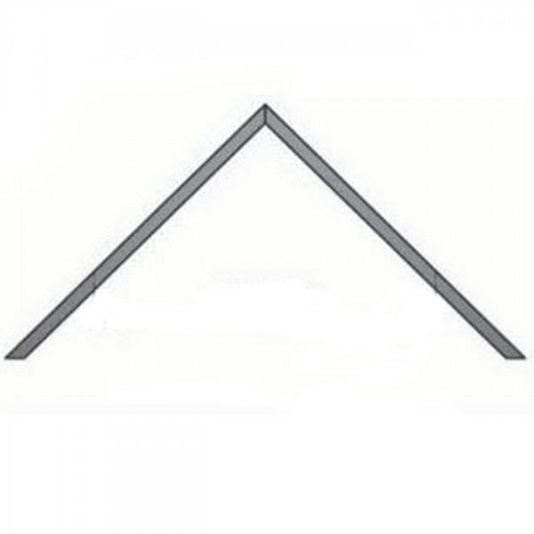 Eckwandrosette für Innenecke 50 mm Rand - 150 mm Ø