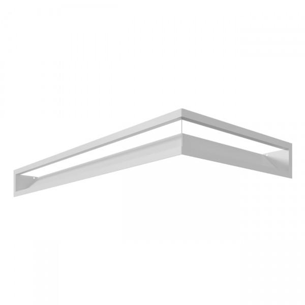 Eckluftleiste LUFT Links 80x40 cm Weiß