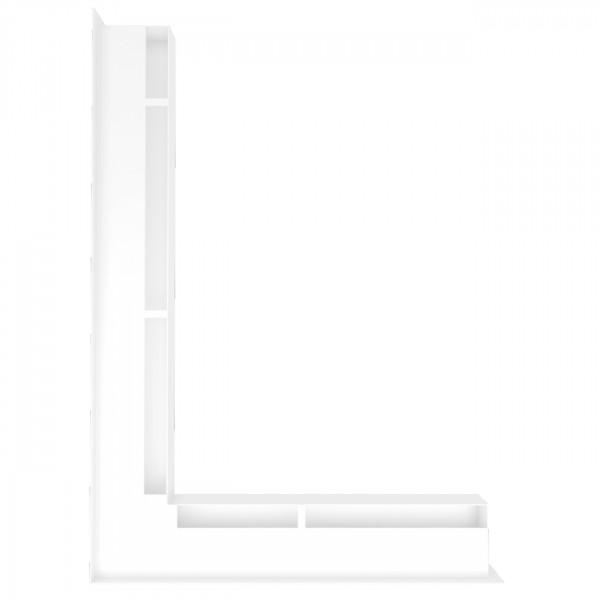 Eckluftleiste LUFT Links 77 x 55 cm in Weiss