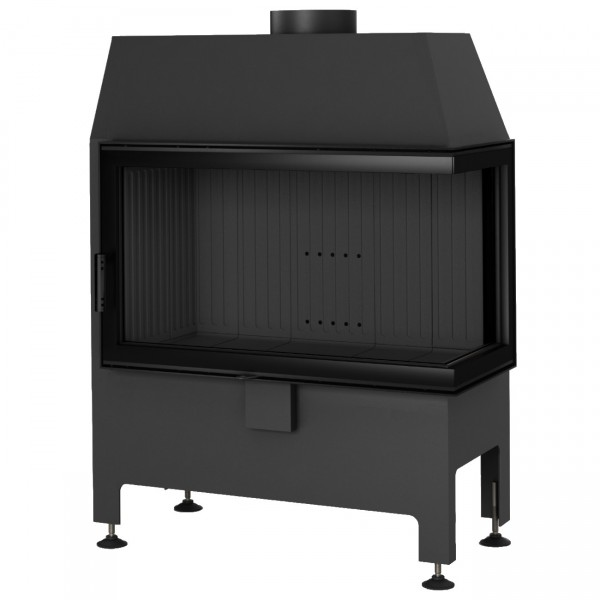 Heatro 69P Black Eck-Kamineinsatz 11kW rechtsverglast