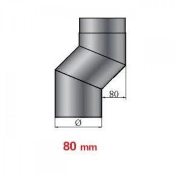 Versatzbogen 80 mm Länge 285 mm - 150 mm Ø