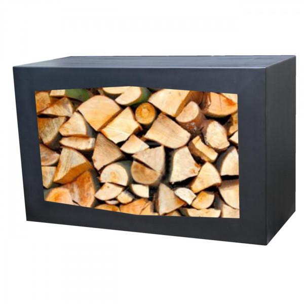 Woodbox - Holz-regal / Holzkiste / Holzkorb in schwarz