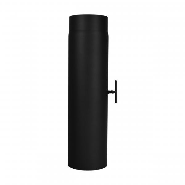 Verlängerungsrohr Länge 500 mm mit eingebauter Drosselklappe 180 mm Ø