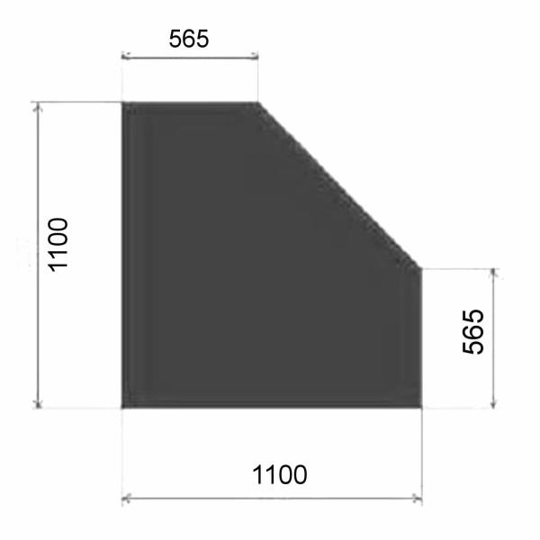 Metallbodenplatte Fünfeck 1100x1100 mm