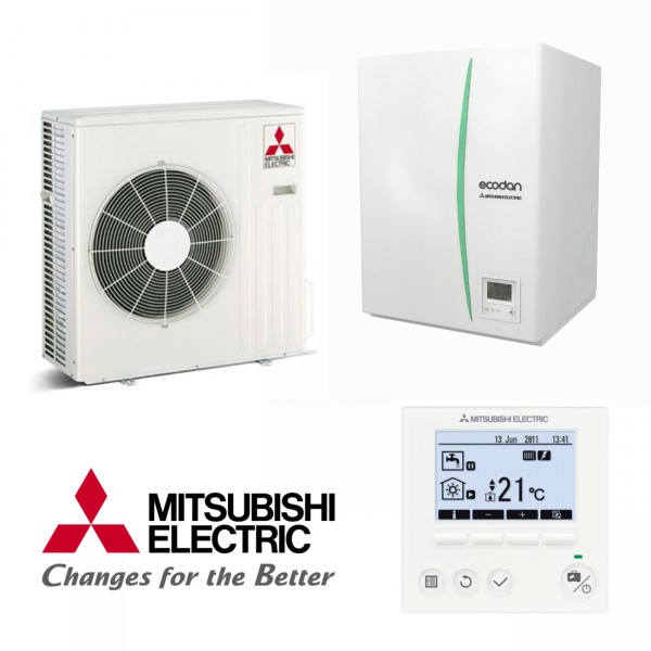 Mitsubishi Eco Inverter Heizen/Kühlen 4 kW Wärmepumpen Set 9.11