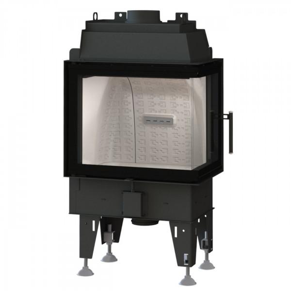 Feel 7CP Eck-Kamineinsatz 7kW für Niedrigenergiehäuser