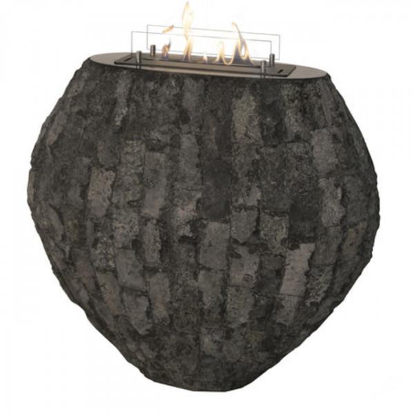 Shigo Naturstein Grau Bioethanol Kamin Keramik Brenner