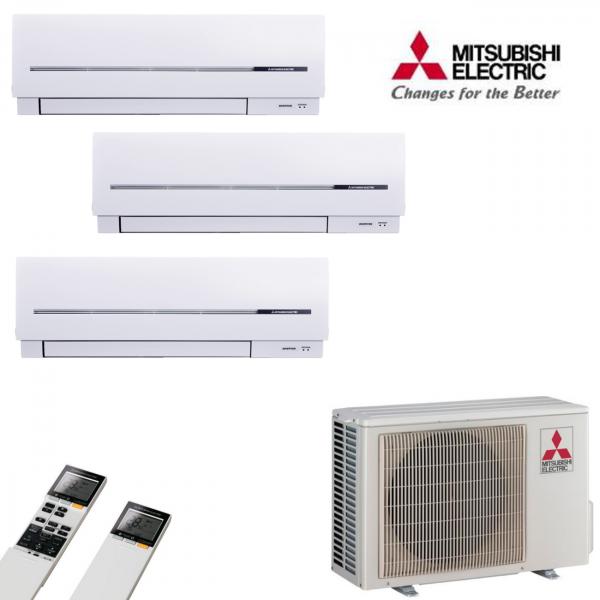 MultiSplit Klimaanlage Kompakt 1+1+3 kW Kühlen