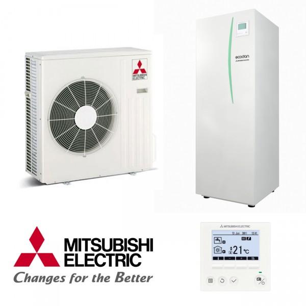 Mitsubishi Eco Inverter Heizen/Kühlen 4 kW Wärmepumpen Set 9.14