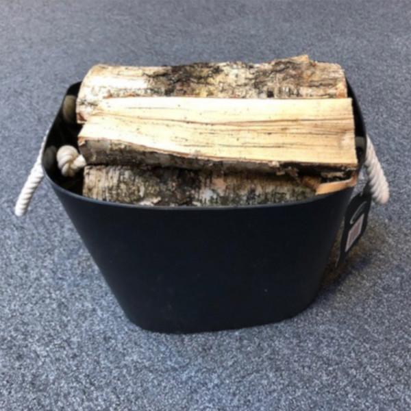 Kunststoff-Holzkorb Oval mit Seilgriff