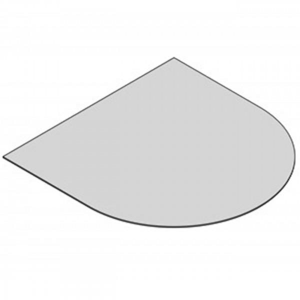 Glasbodenplatte Halbrund mit 1000x1200 mm