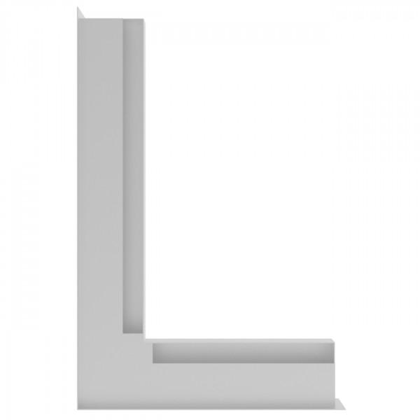 Eckluftleiste LUFT Links 60 x 40 cm in Weiß