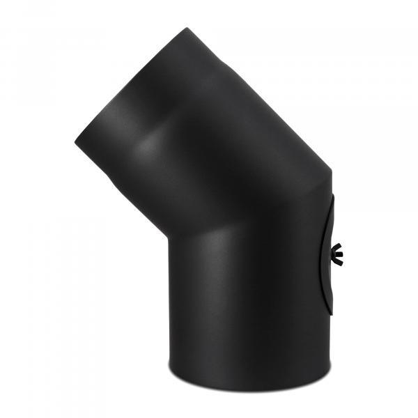 Bogen 45° mit Reinigungsverschluß einmal abgewinkelt 120 mm Ø