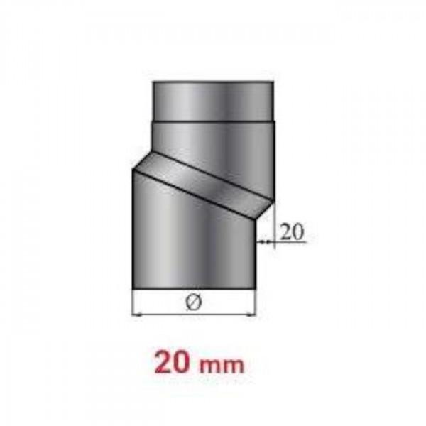 Versatzbogen 20 mm Länge 225 mm - 150 mm Ø