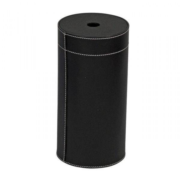 Handgefertigter Zylinder Leder Anzünder-Box