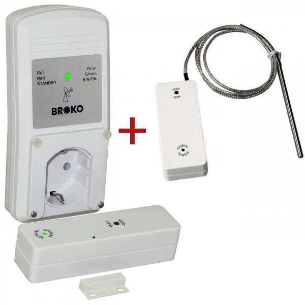 Broko BL220FT Funk-Abluft-Sicherheitschalter mit Temperatursensor DIBT