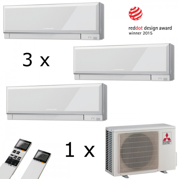 MultiSplit Klimaanlage Premium 1+1+3 kW Kühlen