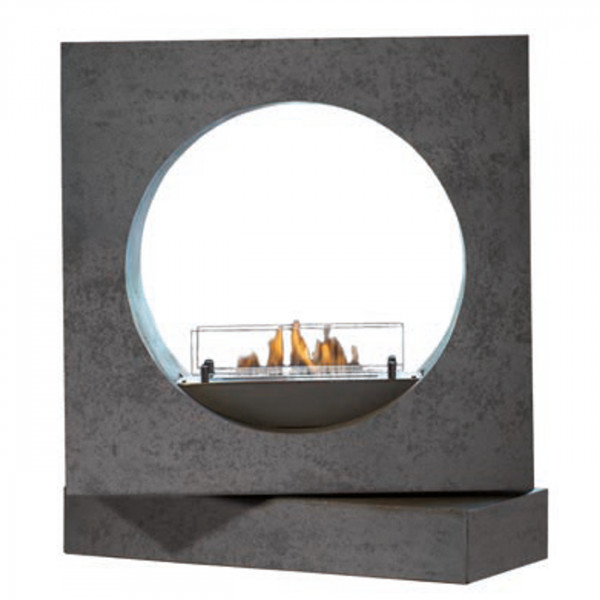 Milano Concrete Look Bioethanolkamin Keramik Brenner
