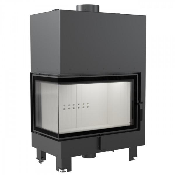 MBO15 Wassergeführter Linksverglaster Kamineinsatz 15kW