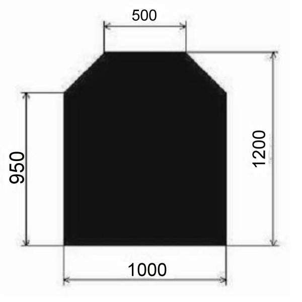 Metallbodenplatte Sechseck 1000x1200 mm
