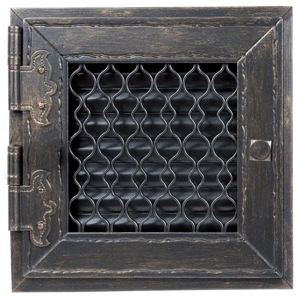 Retro Warmluftgitter weiß oder Graphit 24 x 24 cm