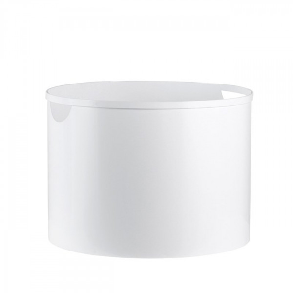 Holzeimer / Holzkorb in Weiß aus Stahl