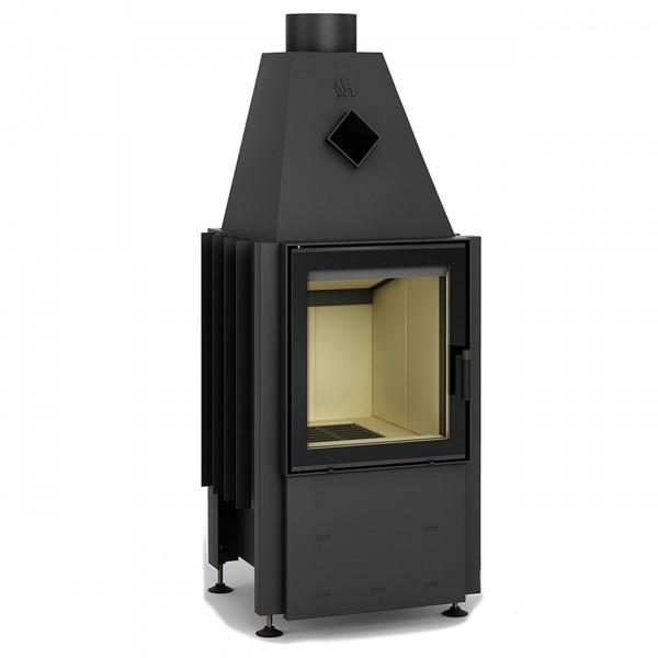 Smart 1VT Warmluft-Kamineinsatz 7kW Rahmenlose Tür