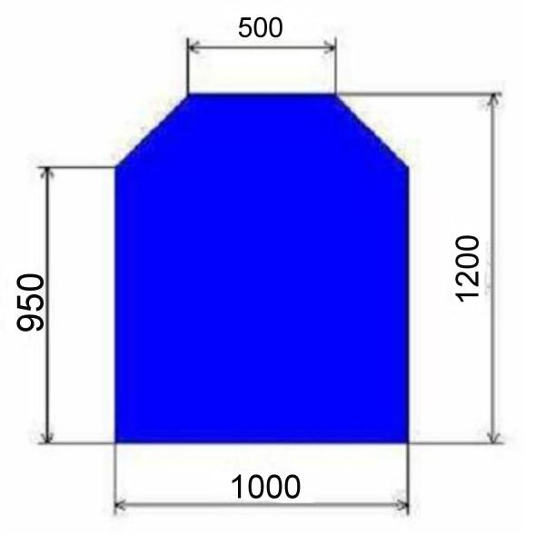 Glasbodenplatte Sechseck mit 1000x1200 mm