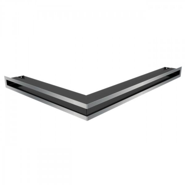 Eckluftleiste LUFT Rechts 40x60 cm geschliffenem Stahl