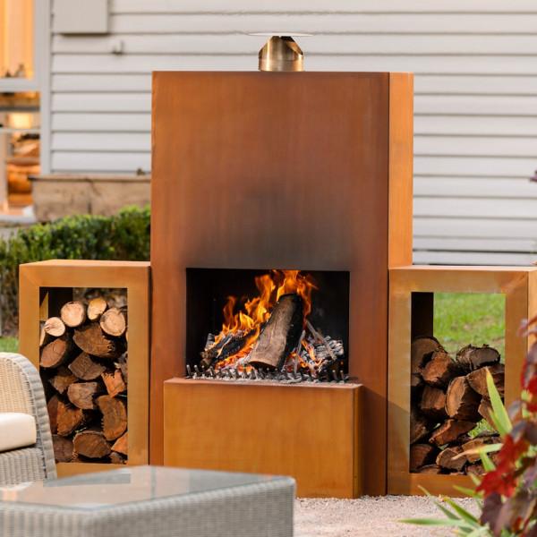 Outdoor/Garten Kamin Feuersäule Pinacate in Corten Stahl