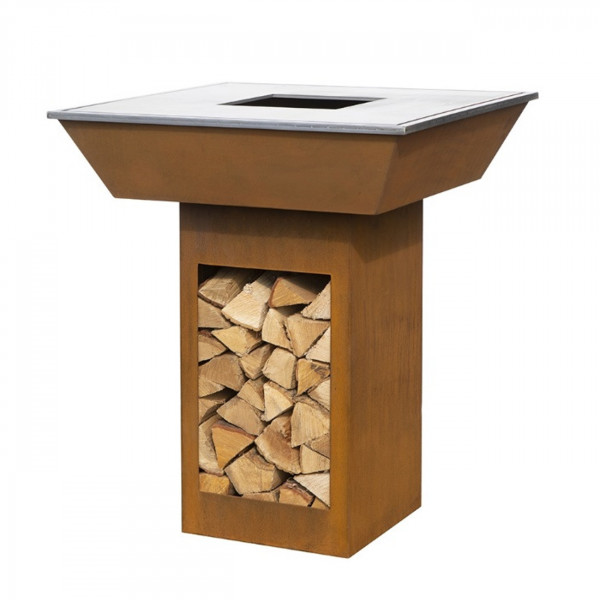 Ahome Pro Designer Gartenkamin / Grill aus Corten Stahl