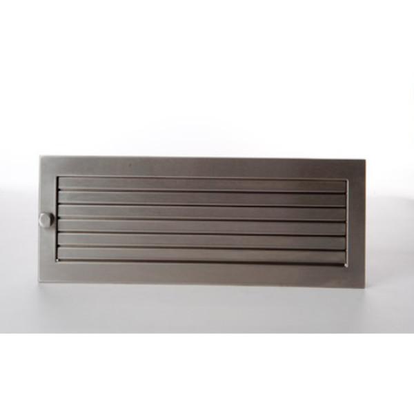 CB-Revisions-Warmluftgitter 45x45 Edelstahl matt