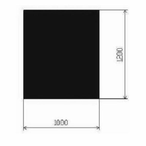 Metallbodenplatte Rechteck 1000x1200 mm