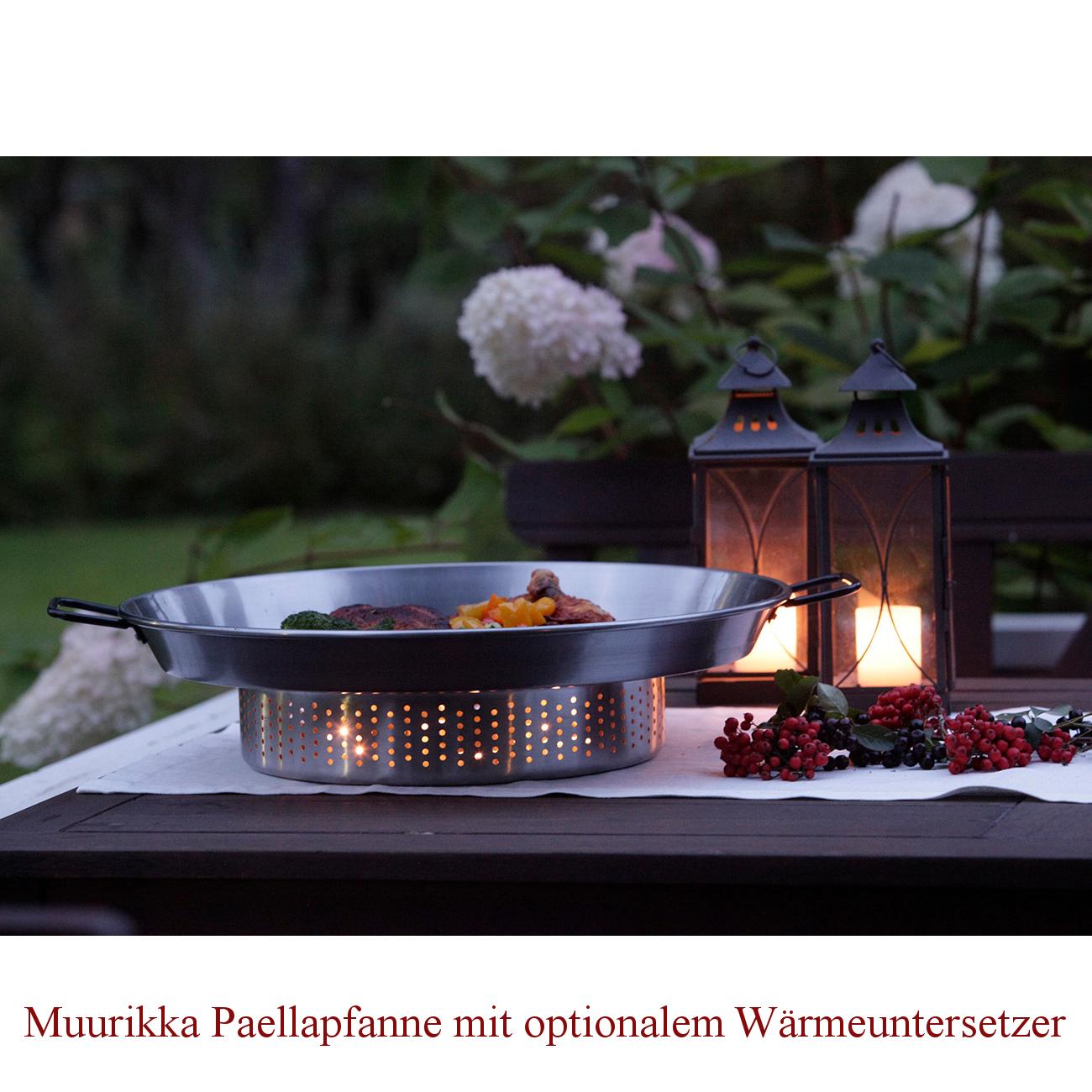 Muurikka Paellapfanne 50 cm Ø mit zwei Griffen