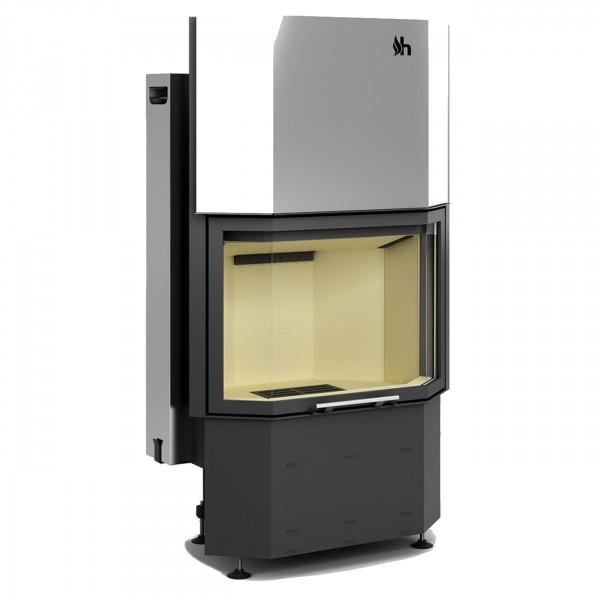 Prisma KH Warmluft-Kamineinsatz 9kW und Hochschiebbare Tür