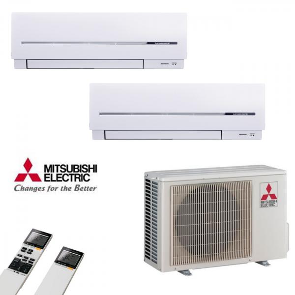 MultiSplit Klimaanlage Kompakt 2+2 kW Kühlen