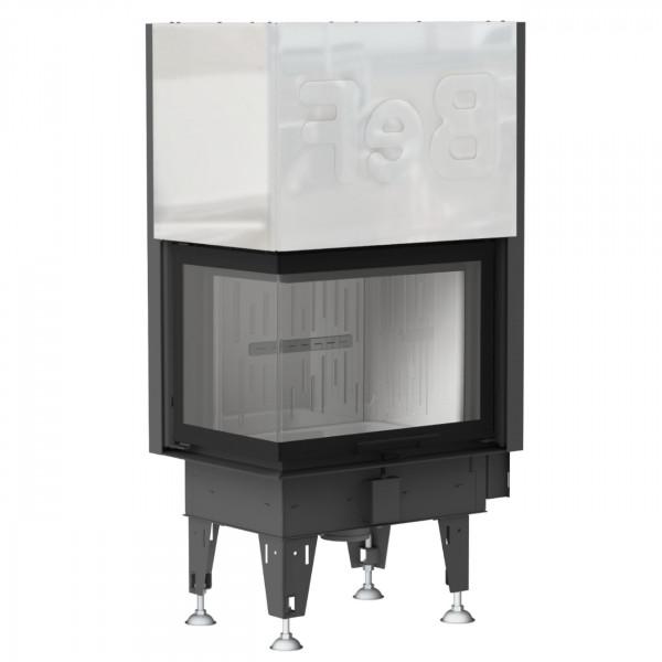Aquatic WHV80CL Wasser Kamineinsatz 14kW Linksverglaste Hebetür