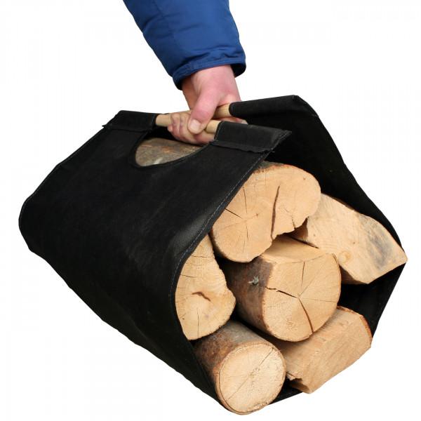 Mopo Holztragetasche in Schwarz