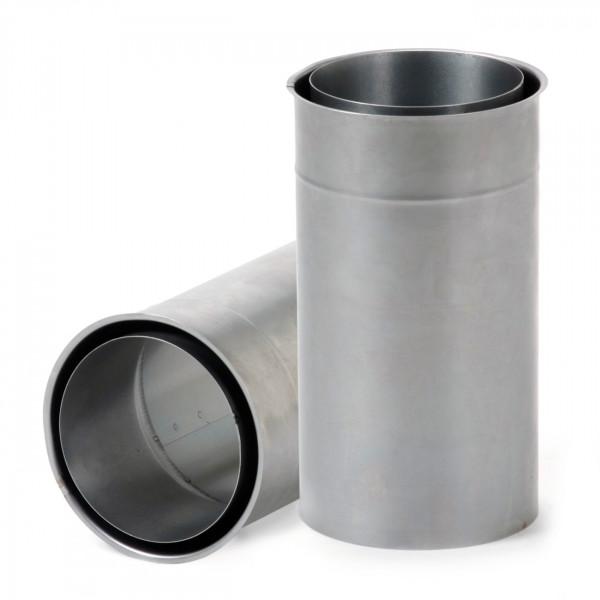 Doppeltes Wandfutter mit 250 mm Rohrverlängerung 130 mm Durchmesser
