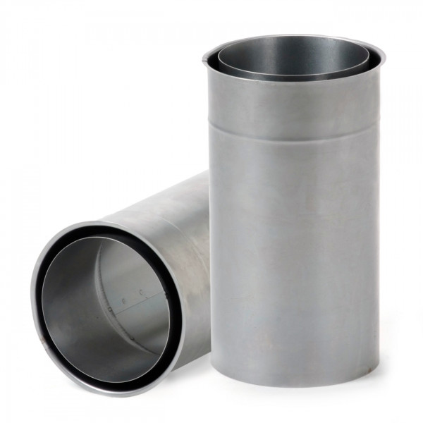 Doppeltes Wandfutter mit 250 mm Rohrverlängerung - 120 mm Ø
