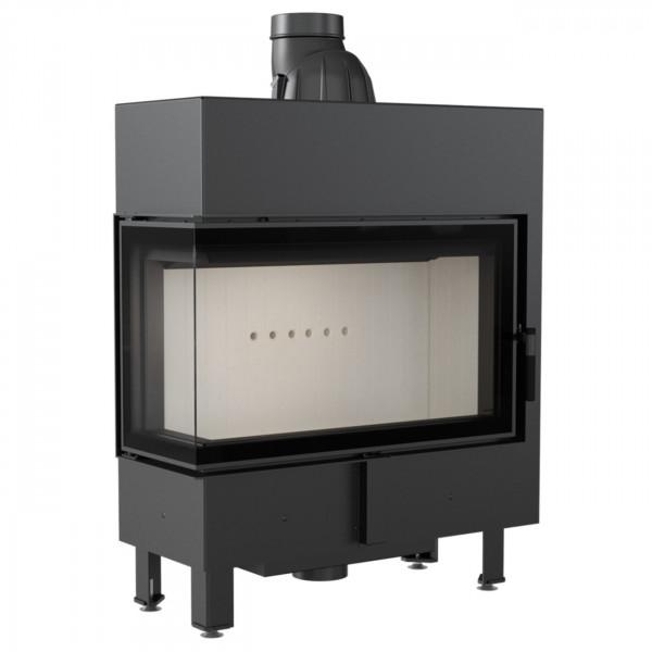 Lucy 14 Slim Warmluft Kamineinsatz Linksverglast 10 kW