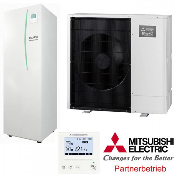 Mitsubishi Power Inverter Wärmepumpen-Set 6.4 Speichermodul Split 10kW