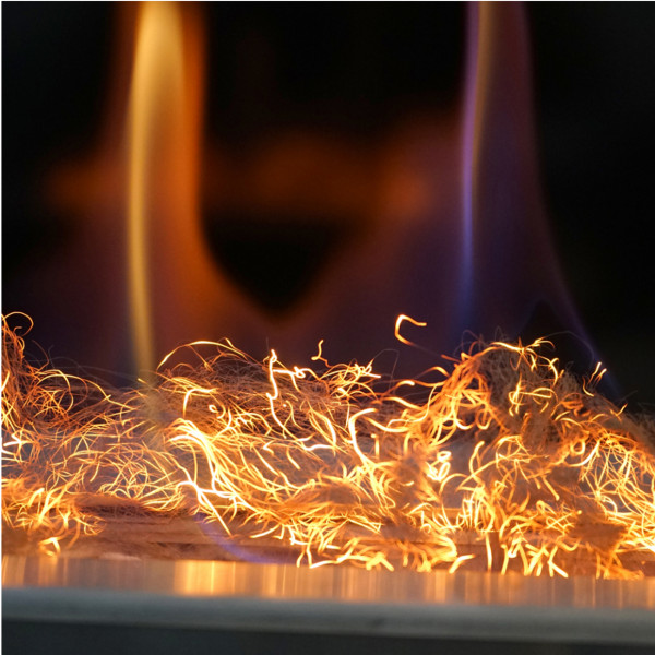 GLOW FLAME - glühende Fasern für Biokamine