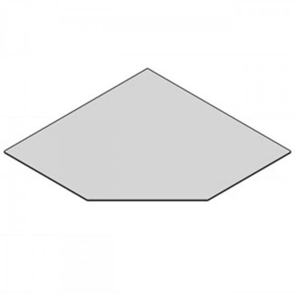 Glasbodenplatte Fünfeck mit 1250x1250 mm